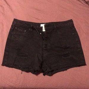🔹BOGO🔹 F21  High Waist Black Jean Shorts